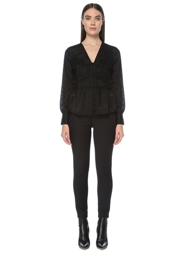 NetWork Kadın 1076342 Regular Fit Desenli Gömlek Siyah